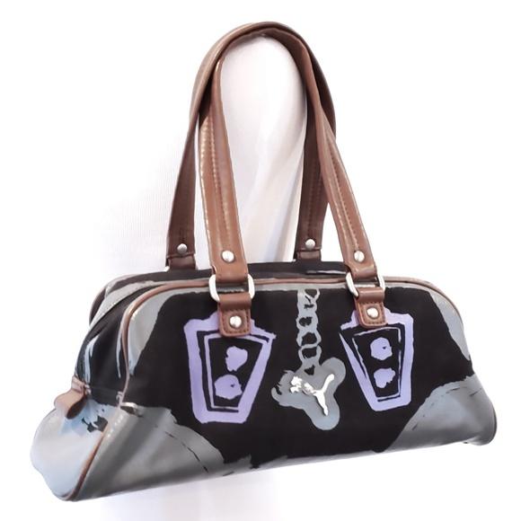 Puma Bags   Yoga Bag Mini Duffle Canvas Purse Satchel   Poshmark 43d0a6efd5